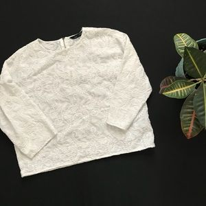 Zara Woman Paisley Embroidered Top